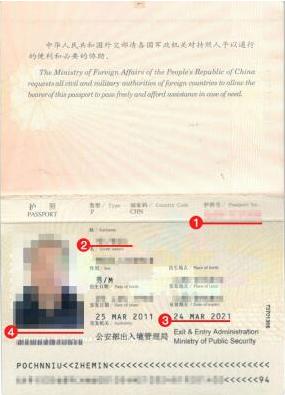 博茨瓦纳签证护照模板